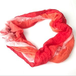 CALVIN KLEIN Orange Ombre All Year Infinity Scarf
